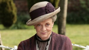 Dame Maggie Smith as Violet Crawley, the Dowager Countess of Grantham