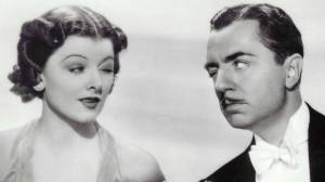 William Powell and Myrna Loy as Nick and Nora Charles in The Thin Man, by Dashiell Hammett